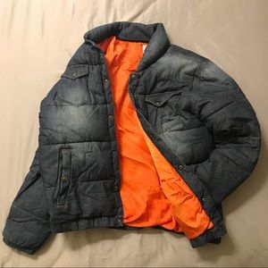 Other - Vintage Dark Denim Puffer Jacket